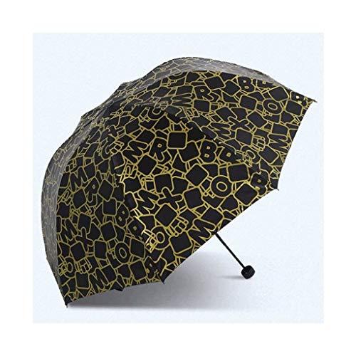 SBSNH Paraguas De Protección Solar Sombrilla Manual Triple, Sombrilla Plegable De Viaje, Sombrilla Universal For Hombres Y Mujeres (Color : B)