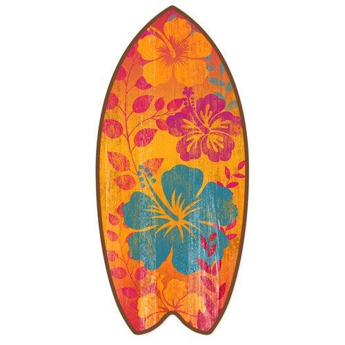 Mini tabla de surf de playa desgastada decoración del hogar acento 11 pulgadas