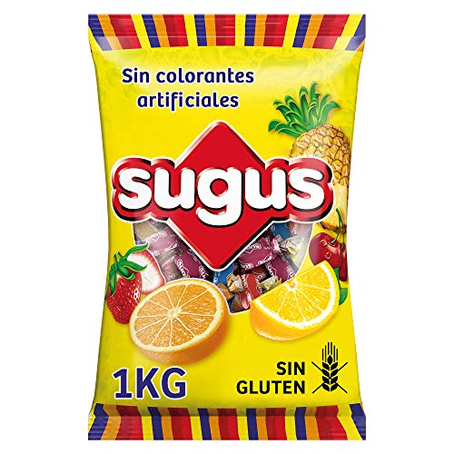 Sugus Caramelos Blandos con Zumo de Fruta, Paquete de 1 Kg