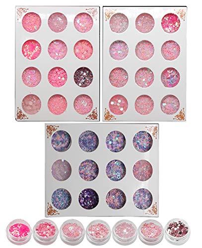 Ranvi Cute Stage Maquillage Des Yeux Maquillage Ongles Décoration Sequin Set 3 Pièces