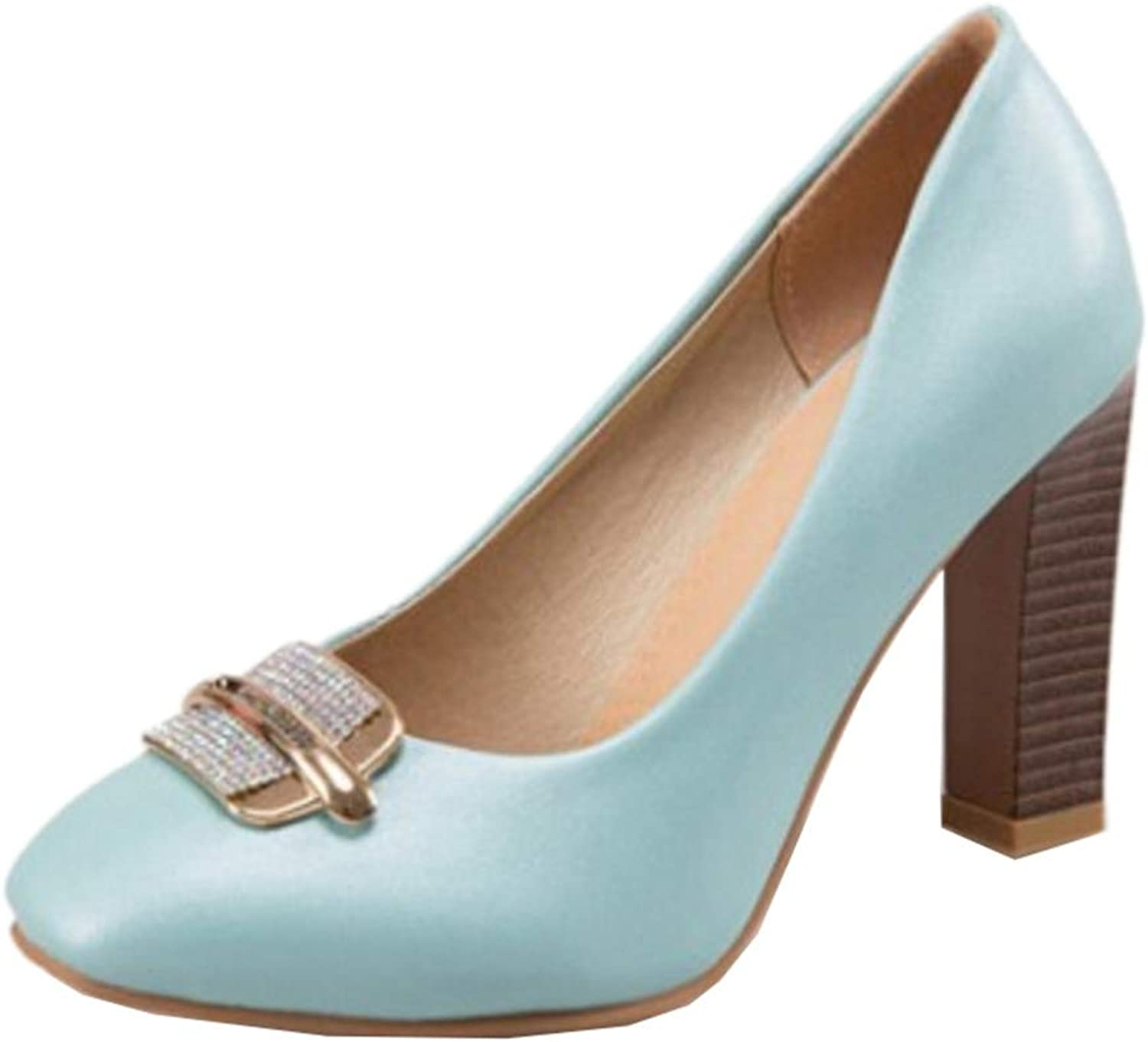 Cocey Women Court shoes with Chunky Heel Black