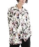 【minsobi】花柄オープンカラーシャツ 長袖