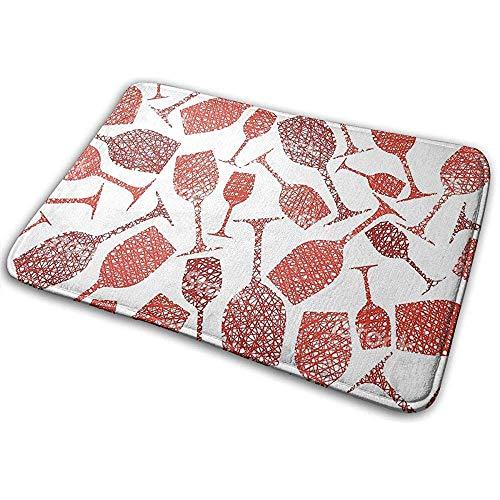 Odelia Palmer Eingang Bodenmatte Teppich Indoor Outdoor Haustürmatte Druck Fußmatten mit Weinglas Rot Clip Arts