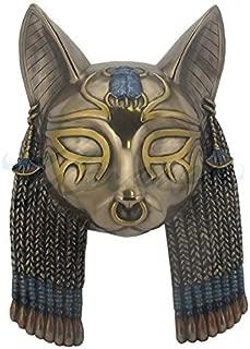 Bastet Mask Egyptian Wall Plaque Sculpture