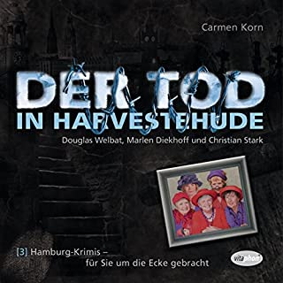Der Tod in Harvestehude     Hamburg-Krimis 3              Autor:                                                                                                                                 Carmen Korn                               Sprecher:                                                                                                                                 Douglas Welbat,                                                                                        Marlen Diekhoff,                                                                                        Christian Stark                      Spieldauer: 1 Std. und 18 Min.     7 Bewertungen     Gesamt 4,0