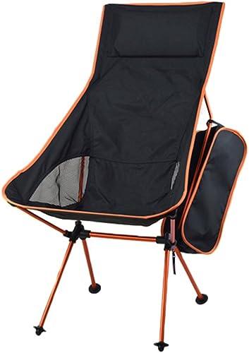 ZHEDIEYI Chaises Pliantes 7075 Alliage d'aluminium avec des oreillers Chaise Camping Tissu Oxford 600D Chaises de Lune en Plein air pour Sacs à Dos Randonnée Camping Plage Pêche