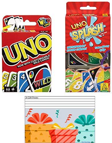 Uno Combo - Includes 1 Set uno Cards + 1 Set uno Splash Cards, Pool Game