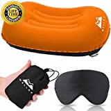 WELLAX Ultralight Camping Pillow - Compressible, Compact, Inflatable, Comfortable, Ergonomic Pillow for Neck &...