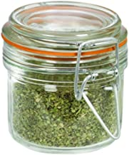 Anchor Hocking 7.4 Ounce Mini Heremes Jar with Clamp Top Lid, Set of 12