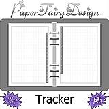 Kalendereinlagen - DIN A5 (14.85cm x 21cm) - 8 Blatt (16 Seiten) Tracker (Mood, Habbit, Sleep.) - 120g Premium Papier