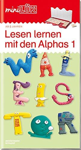 miniLÜK-Übungshefte: miniLÜK: Vorschule/1. Klasse - Deutsch: Lesen lernen mit den Alphas 1