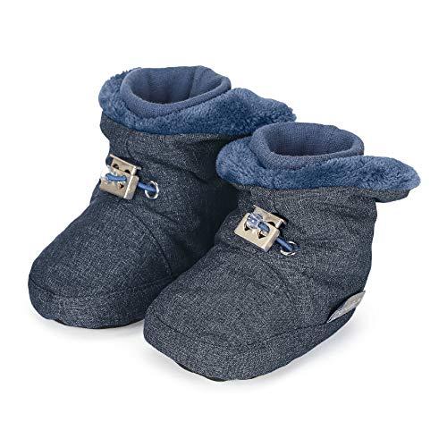 Sterntaler Mädchen Baby Stiefel mit Klettverschluss, Farbe: Tintenblau melange, Größe: 19/20, Alter: 12-18 Monate, Artikel-Nr.: 5101832