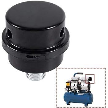 "3//8/"" 16mm Air Intake Filter Paper Metal Silencer Noise Muffler For Air Pump"