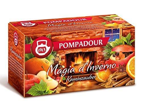 DEU Pompadour 1913 Infuso Magia d'Inverno Miscela alla Frutta Aromatizzata alla Mela e Cannella - 1 x 20 Bustine di Tè (58 Grammi)
