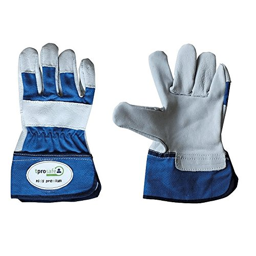 tprosafe kids premium Kinderhandschuhe, Kinderhandschuh blau - kleine Handschuhe für Kinder