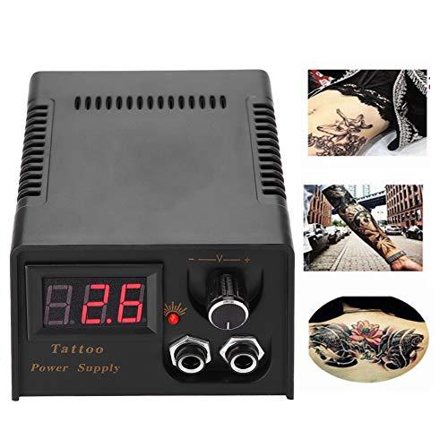 Tattoo Maschine Netzteil, LCD Digital Tattoo Power Maschinen Netzteil, Doppelte Digital Anzeige Tattoo Netzgerät Dauerhafte Tattoo Maschine Stromversorgung für Liner Shader (EU)