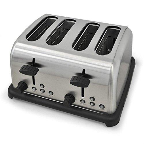 Klarstein 10004365 Toaster 4-Scheiben Edelstahl 1650 W