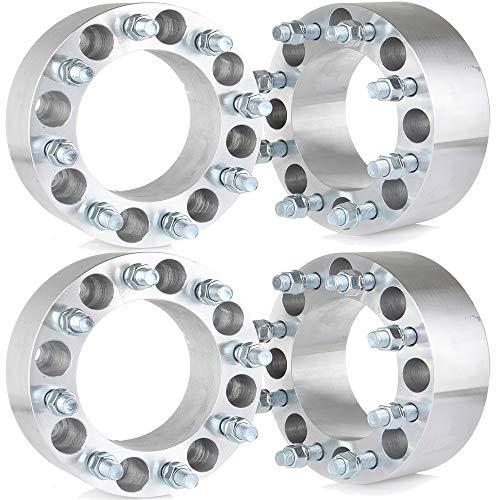 "ECCPP 4X 8 Lug 3"" 8x165.1mm Wheel Spacers 8x6.5 to 8x6.5 126.15mm 14x1.5 Fits for GMC K3500 K2500 Sierra 3500 HD for Ch-evr-olet 3500 HD 2500HD 1500HD"