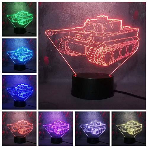 Cabina estéreo colorida Lámpara de escritorio 3D Control remoto LED Ilusión USB Luz de decoración navideña | Regalo de fiesta de cumpleaños para amantes de los niños