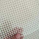 ROSETOR 1 tappetino in rete per la realizzazione di tappeti, in tela di canapa per tappeti, fai da te, kit di strumenti per ricami, decorazioni artigianali (100 x 150 cm)