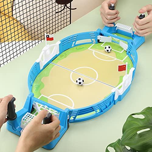 Mini Mesa De Futbolín Juegos,Mesa de Juego de futbolín Mini Juego de Arcade de Mesa de fútbol Juego de fútbol de Escritorio en Miniatura para niños Fiesta Familiar