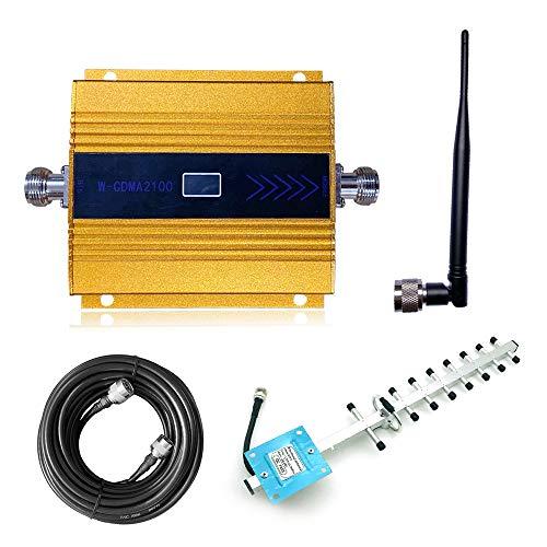 KKmoon Handy Signalverstärker Verstärker Repeater LCD-Digitalanzeige DCS1800MHz Handy-Signalverstärkerset Handynetz Signalempfang Verstärkung mit leistungsstarke Außenantenne Montagezubehör - Gold