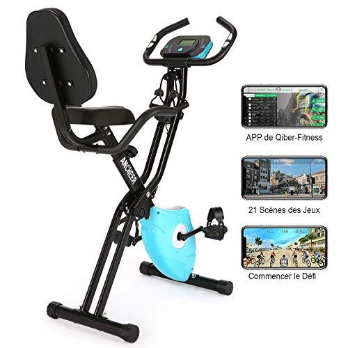 Profun Vélo d'Appartement Pliable Vélo de Fitness 10 Niveaux de Résistance Magnétique& Siège...