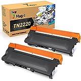 7Magic TN2220 Compatible Cartucho de Tóner para Usar en Lugar de Brother TN2220 TN2010 para MFC-7360N MFC-7460DN DCP-7055 DCP-7060D DCP-7065DN HL-2240 HL-2130 HL-2135W HL-2240 HL-2250DN (2 Negro)