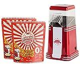 CORN POPPETS | Máquina de Palomitas de Maiz | Sin Aceite, Sin Humos + 2 Bolsas de Granos de Maiz...