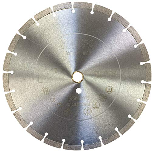 Cyclone VSS 12 inch Dry or Wet Cutting General Purpose Power Saw Segmented Diamond Blades for Concrete Stone Brick Masonry (12')
