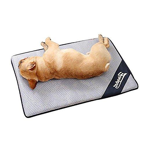 lembrd Koelmat voor hond en katten, ijs, zilver, voor honden, 48 * 38cm, Een