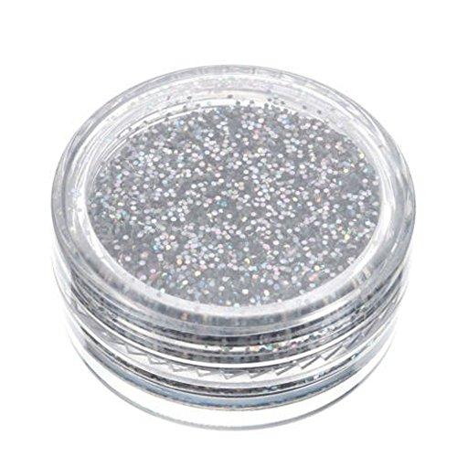 YusellYu Sparkly Makeup Glitter Loose Powder Lidschatten Silber Lidschattenpigment
