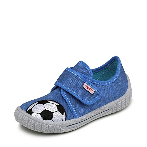 Superfit Bill, Zapatillas de Estar por casa Niños, Azul Bluet Kombi, 25 EU