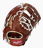 ローリングス(Rawlings) 野球用 軟式用 HYPER TECH COLOR GOLD ハイパーテック カラーゴールド ファーストミット 12.5インチ GRXFHTC3ACD ブラウン 右投用