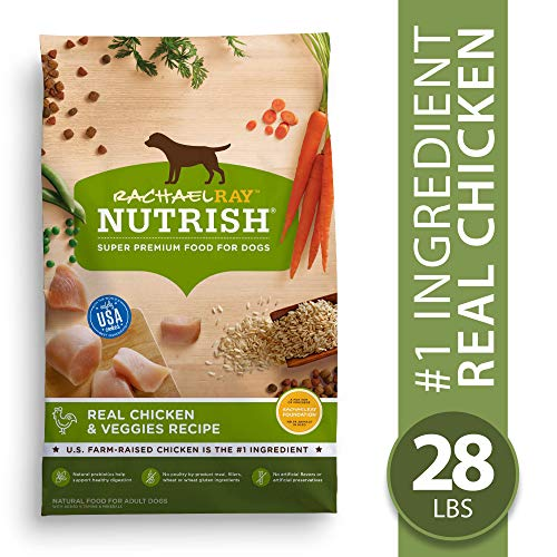 Rachael Ray Nutrish Natural Premium Dry Dog Food, Real Chicken & Veggies Recipe, 28 Lbs