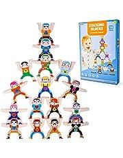 Wiwi Blocs de Construction pour Les Tout-Petits Puzzle Game Hercules Doll Toys Contient 16 Blocs, 4 modèles d'autocollants, 2 Petits modèles de Billes, Un Manuel, etc Cadeau pour Les Enfants