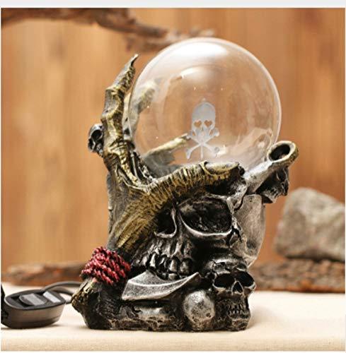 Leselampe Nachttischlampe Tischlampe Schreibtischlampe Tischleuchte Lampen Skelett Hand Elektrostatische Ion Magic Ball Touch Sensor Glas Licht Auf Schreibtisch Dekoration Plasma Ball