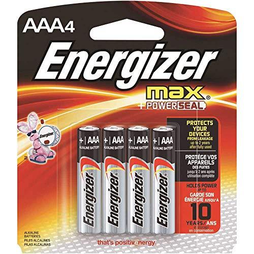 Energizer - MAX Alkaline Batterien, AAA, 4 Batterien/Pack - Einzelpäckchen, 1 Stück - Dependable, kraftvolle Leistung.