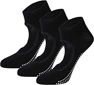 Calcetines Pilates Yoga Antideslizantes Calcetines para Mujer para Barre Fitness Antideslizantes Calcetines(3 Pares)