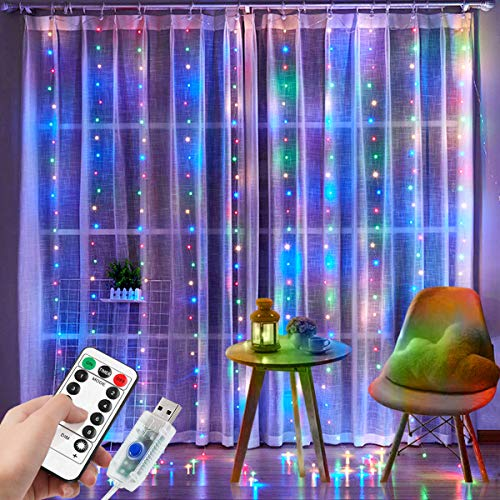 300 LED Curtain Lights, DIZA100 Window String Lights,...
