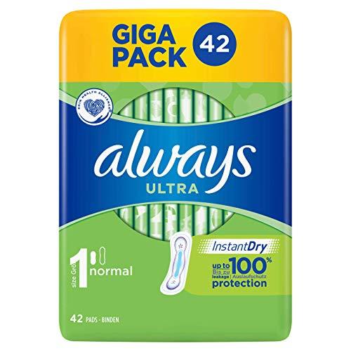 Always Ultra Normal Lot de 42 serviettes hygiéniques 153 g