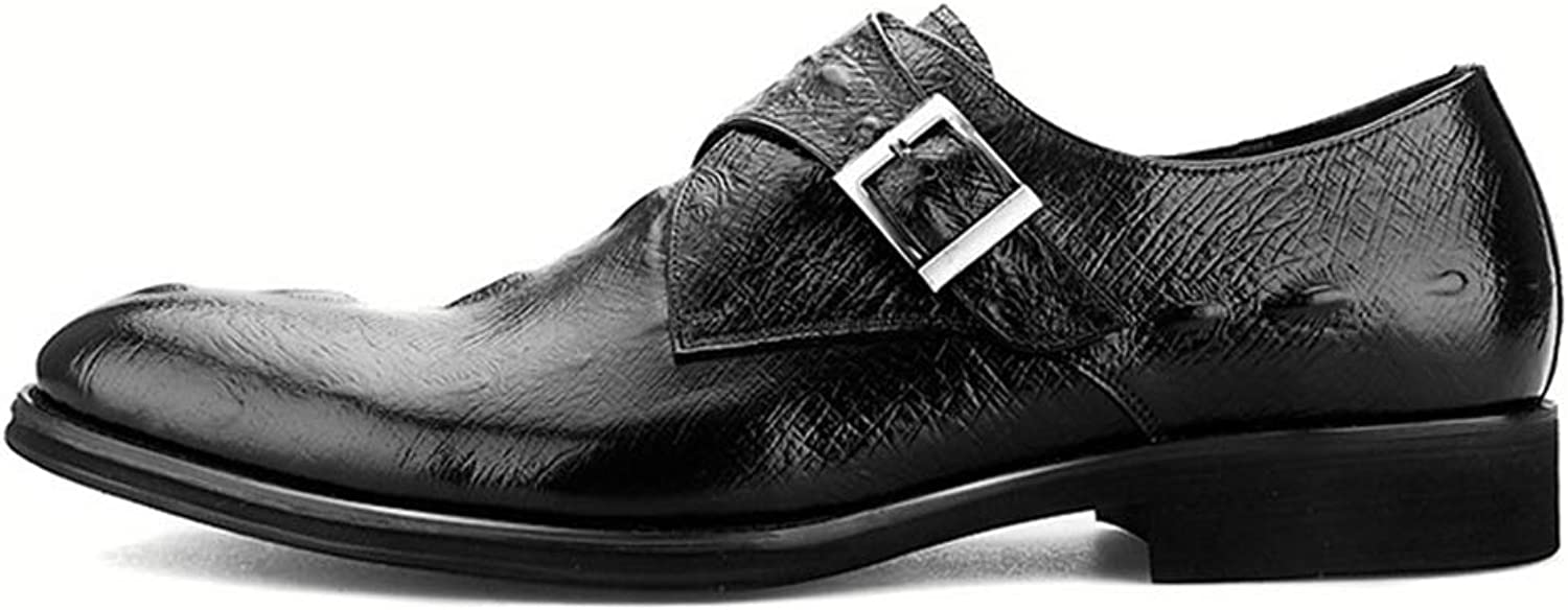 Men's Leather shoes Oxfords Formal Black Buckle Wedding Business Work Dress Party Pointed Toe Size UK 6 7 8 9 10 11 12