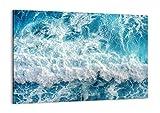 Cuadro sobre lienzo - Impresión de Imagen - mar ola oceano - 100x70cm - Imagen Impresión - Cuadros Decoracion - Impresión en lienzo - Cuadros Modernos - Lienzo Decorativo - AA100x70-4067