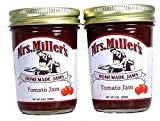 2 DELIGHTFUL Jars of Mrs. Miller's Tomato Jam - 9 Ounces Each Jar MADE WITH delicious red tomatoes, Mrs. Miller's Homemade Tomato Jam adds a bit of pure cane sugar to the boldness of the tomato to form a sweet and savory treat of a jam. THIS FLAVOR i...