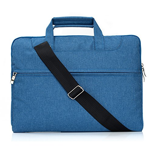 Macbook Pro Retina 13 inch Case 2017 A1708 Sleeve Crossbody Bag,Briefcase Handbag Cover with Handle for 13-13.3' inch Macbook Air/Pro Late 2012-2015/Microsoft Surface Book 13.5 by elecfan - Blue