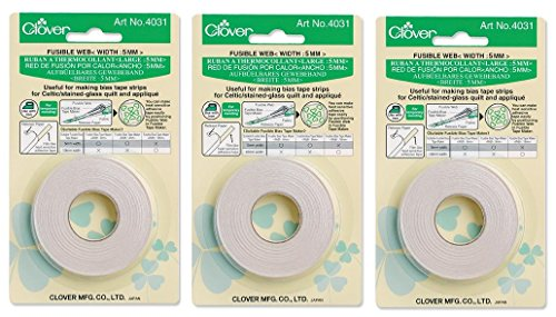 Clover Needlecrafts Bulk Buy Fusible Bias Tape Maker Fusible Web 40 Feet 4031C (3-Pack)