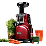 Kuvings Silent Juicer, Red, Special Package with Blank Strainer + Smoothie Strainer + Spout Brush