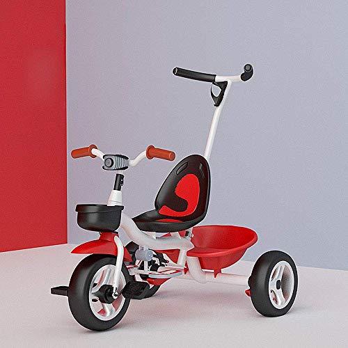 Triciclo Trike Niños-Ride en el Triciclo for niños, 2 en 1 Trike del Pedal del niño for Coches de 3-6 años de Edad Chicos Chicas Carretilla niño Scooters, Volver Almacenamiento/manija extraíble de P