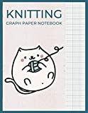 Knitting Paper Notebook: To Design Beautiful Patterns In This Knitter's Journal | 4:5 ratio | 120 Pages | 8.5' x 11' | Cute Cat Cover Design