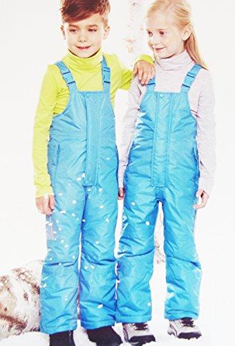 IMPIDIMPI Kleinkinder Schneehose Kinder Skihose TECHTEX Bionic Finish ECO 4 Farben Gr.74 bis 116 (Türkis, 86/92)